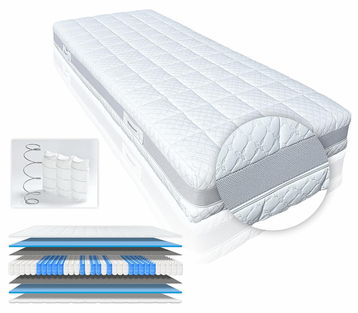 orthop dische taschenfederkernmatratze hamburg deluxe h4 90x200cm ebay. Black Bedroom Furniture Sets. Home Design Ideas