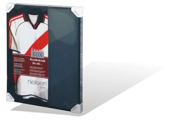 nielsen framebox schwarz 60x80cm 3d darstellung geeignet f r fu ball trikots ebay. Black Bedroom Furniture Sets. Home Design Ideas