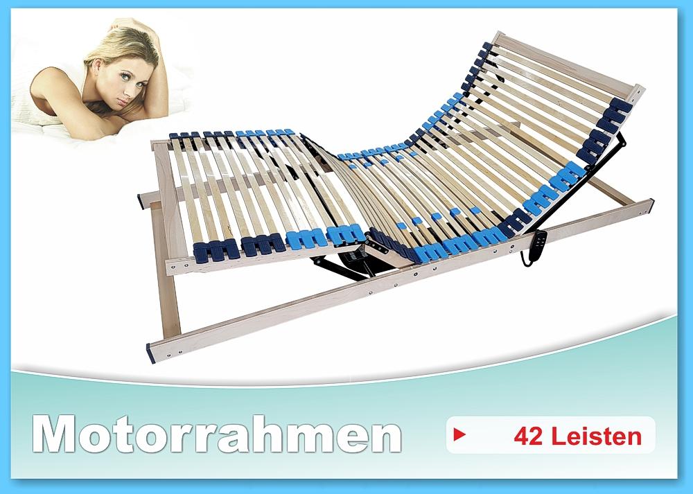 lattenrost elektrisch 42 leisten motorrahmen 90x200cm uvp 499 ebay. Black Bedroom Furniture Sets. Home Design Ideas