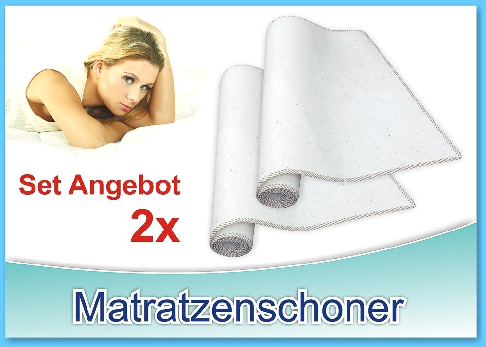 set angerbot 2x matratzen schoner matratzenschoner brise 100x200cm hagen. Black Bedroom Furniture Sets. Home Design Ideas