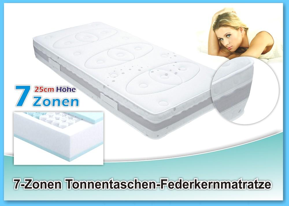 orthop dische 7 zonen taschen federkern matratze graz 90x190x25cm h2 ebay. Black Bedroom Furniture Sets. Home Design Ideas