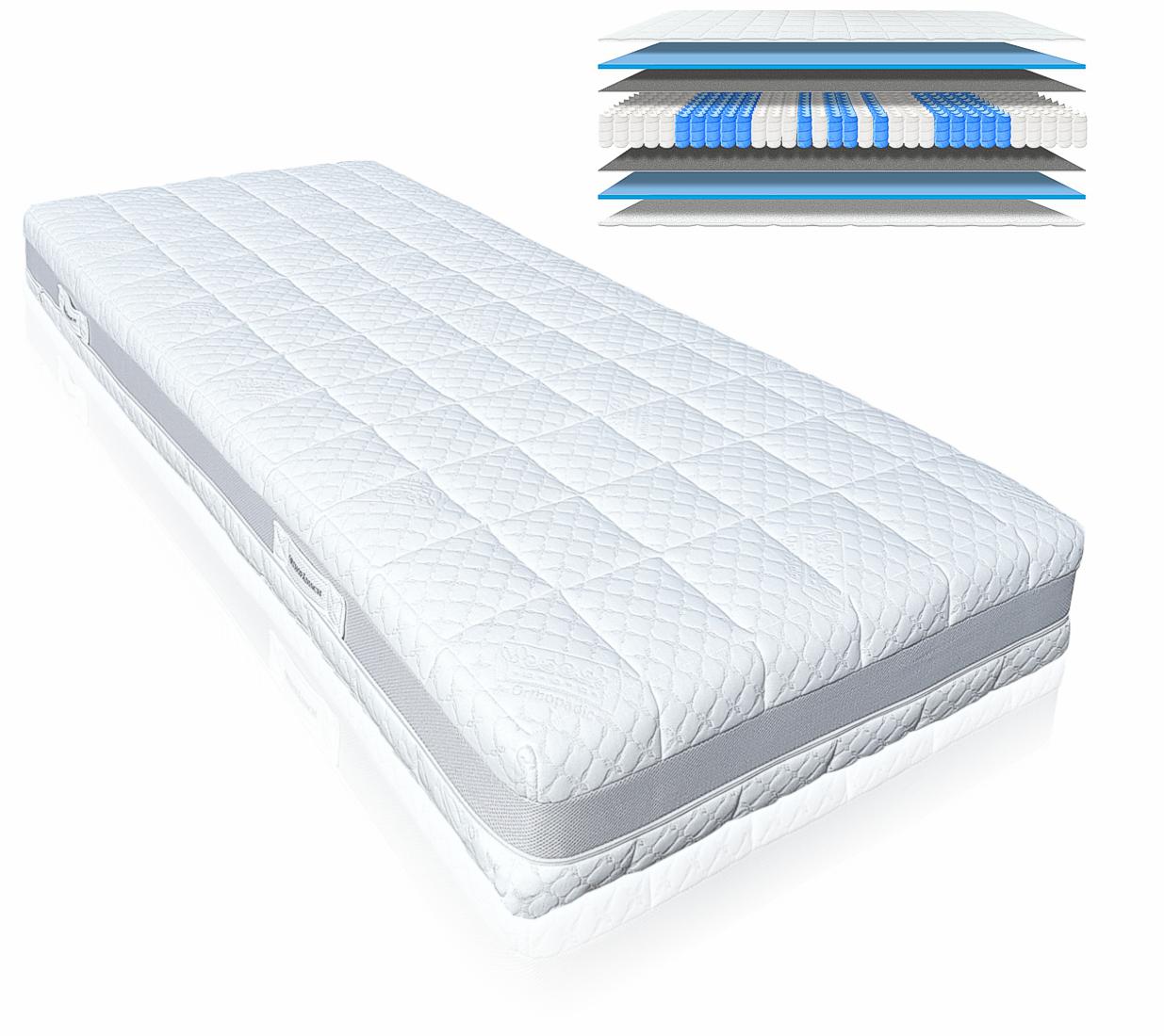 orthop dische 9 zonen tonnentaschenfederkernmatratze hamburg deluxe h3 100x200cm ebay. Black Bedroom Furniture Sets. Home Design Ideas