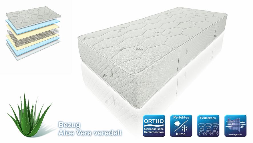 feste und hohe orthop dische luxus federkern matratze smaragd h5 27cm top. Black Bedroom Furniture Sets. Home Design Ideas
