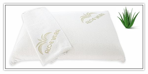 orthop disches kopfkissen 42x72x12cm viscoschaum premium aloe vera bezug ebay. Black Bedroom Furniture Sets. Home Design Ideas