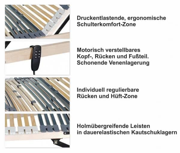 42 Leisten elektrischer Lattenrost 140x200cm Details