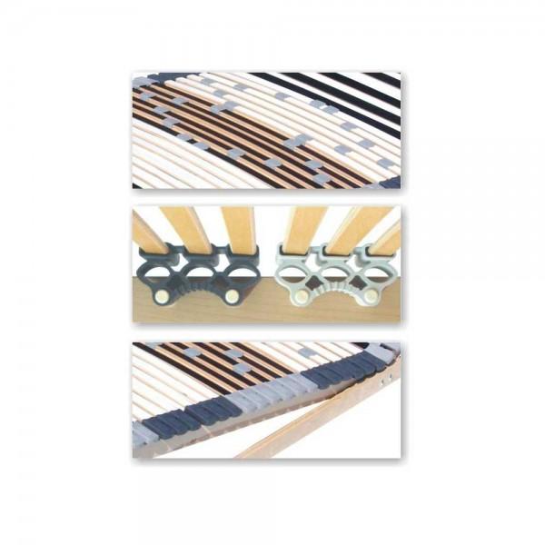 Set 2 X Lattenrost 70x200cm, 44 Leisten, nicht verstellbar - Detail