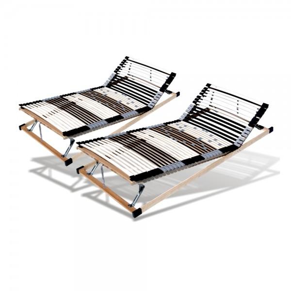 Set 2 X Lattenrost 70x200cm, 44 Leisten, verstellbar