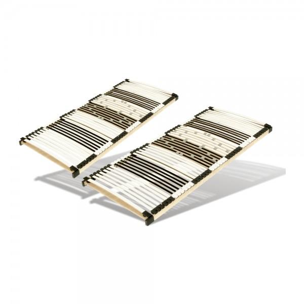 Set 2 X Lattenrost 90x190cm, 44 Leisten, nicht verstellbar - Produktbild