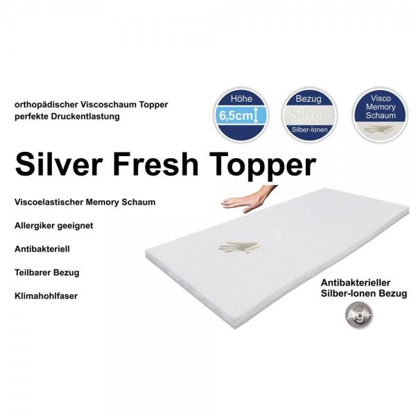 Silver Fresh Topper 160x200cm, Details