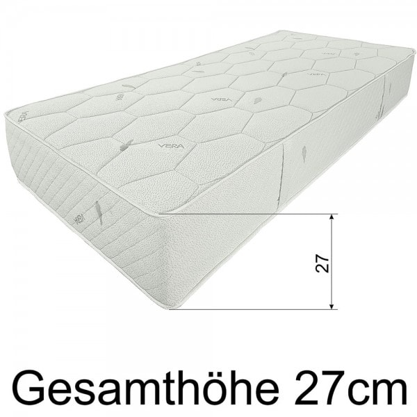 Federkernmatratze SMARAGD, H4, 90x220 cm, Hoehe