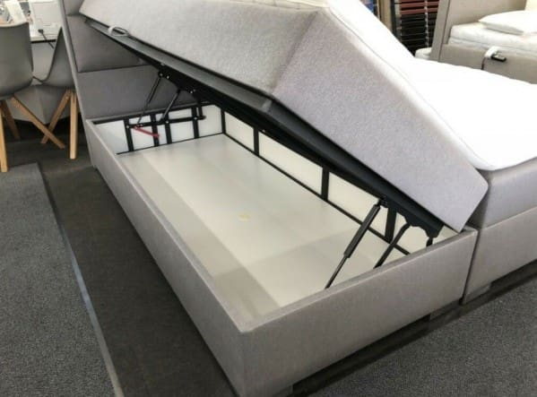 VLINDER Boxspringbett mit Bettkasten, 180x200cm - Bettkasten offen