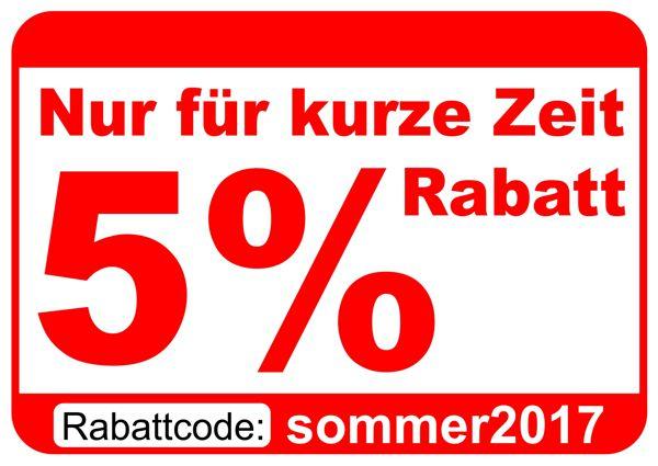 5% Ermäßigung