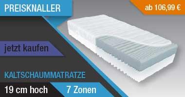 Kaltschaummatratze VITAL L  19cm hoch  Raumgewicht 40