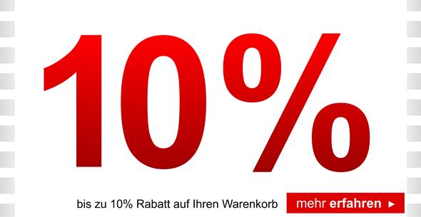 bis zu 10%Rabatt mehr kaufen - mehr sparen