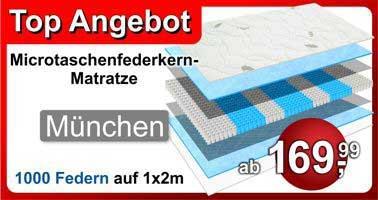 1000 Federn Taschenfederkernmatratze München