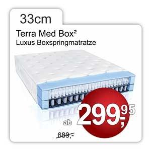 Boxspringmatratze Terra Med Box, 33cm hoch mit 2 Federkernen