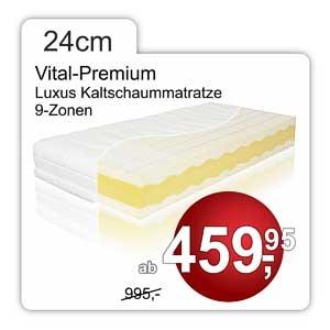 Vital Premium Kaltschaummatratze 24cm hoch