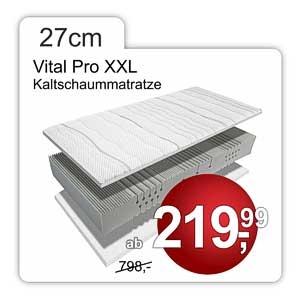 Kaltschaummatratze Vital Pro XXL, 27cm hoch