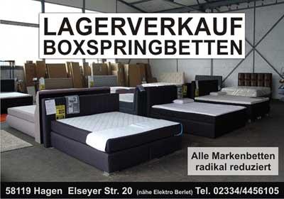 Boxspringbetten Lagerverkauf Hagen