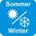 Matratze mit Sommer- und Winterseite