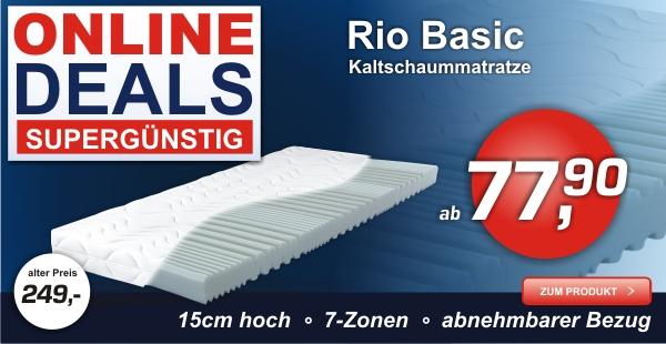 Kaltschaummatratze RIO BASIC,