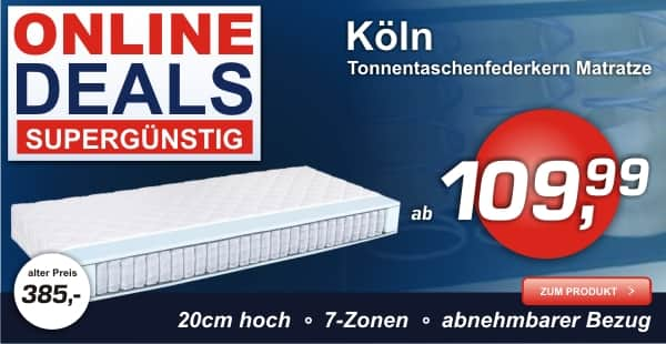 Taschenfederkernmatratze Köln mit 7 Zonen